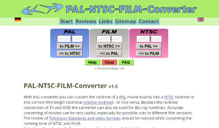 The English version of the PAL NTSC Runtime Converter. (Creation: 01.09.2004)